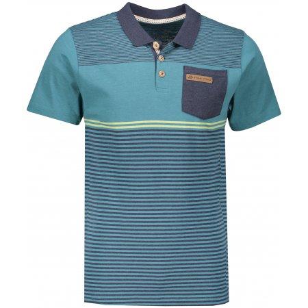 Pánské triko s límečkem ALPINE PRO HEIK MTSN361 ZELENÁ