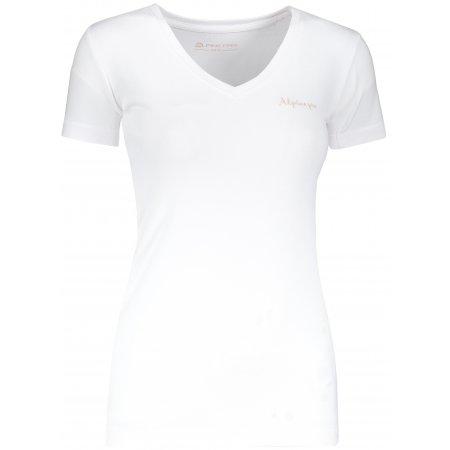 Dámské tričko s krátkým rukávem ALPINE PRO LUKA 2 LTSN344 BÍLÁ