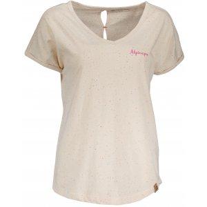 Dámské tričko s krátkým rukávem ALPINE PRO ATTALA 5 LTSN425 BÉŽOVÁ