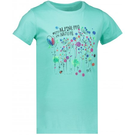 Dětské tričko s krátkým rukávem ALPINE PRO SPORO KTSN166 ZELENÁ