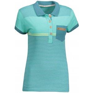 Dámské triko s límečkem ALPINE PRO HEIKA 2 LTSN424 ZELENÁ