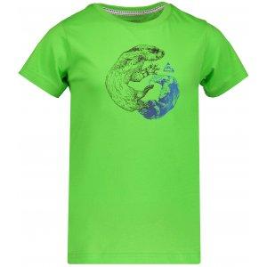 Dětské tričko s krátkým rukávem ALPINE PRO NEJO KTSN164 TMAVĚ ZELENÁ