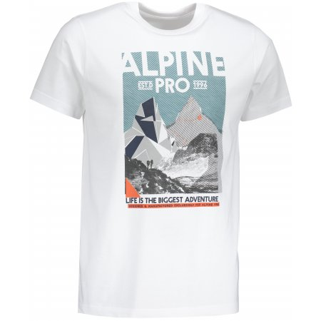 Pánské tričko s krátkým rukávem ALPINE PRO ABIC MTSN355 BÍLÁ
