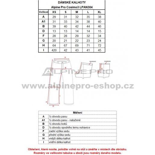Dámské 3/4 kalhoty ALPINE PRO COSIMO 3 LPAN304 MODRÁ