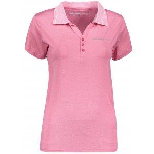 Dámské triko s límečkem ALPINE PRO ISTASA LTSN269 RŮŽOVÁ