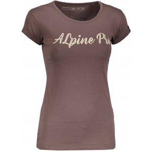 Dámské triko s krátkým rukávem ALPINE PRO HERTA LTSN565 HNĚDÁ