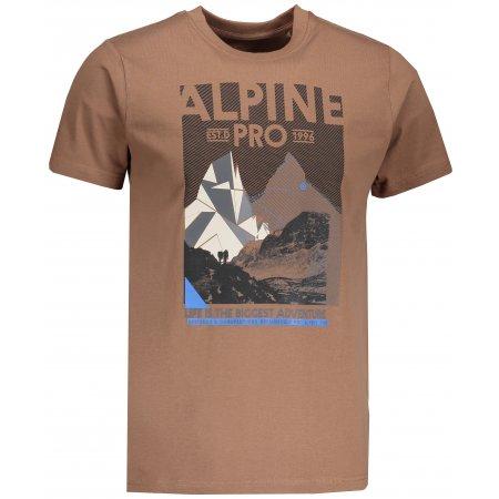 Pánské tričko s krátkým rukávem ALPINE PRO ABIC MTSN355 HNĚDÁ