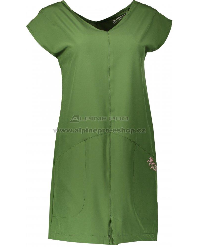 1a25e9b1c3b4 Dámské sportovní šaty ALPINE PRO VAKIA 2 LSKN149 ZELENÁ velikost  XS ...