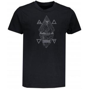 Pánské tričko s krátkým rukávem ALPINE PRO AMIT 6 MTSN365 ČERNÁ