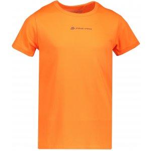 Dětské funkční tričko s krátkým rukávem ALPINE PRO HOTO 2 KTSN162 ORANŽOVÁ
