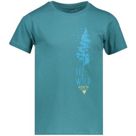 Dětské tričko s krátkým rukávem ALPINE PRO DAYO 2 KTSN157 ZELENÁ