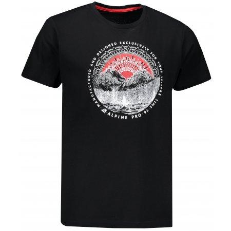 Pánské triko s krátkým rukávem ALPINE PRO RYKER 2 MTSN327 ČERNÁ