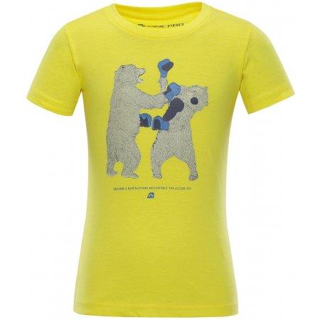 Dětské tričko s krátkým rukávem ALPINE PRO IVARO 2 KTSN159 ŽLUTÁ