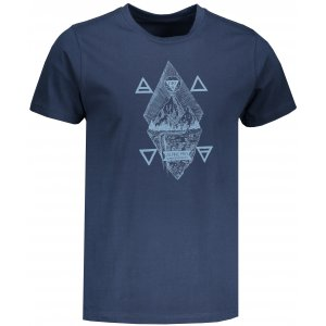 Pánské tričko s krátkým rukávem ALPINE PRO AMIT 6 MTSN365 TMAVĚ MODRÁ