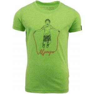 Dětské triko s krátkým rukávem ALPINE PRO ZAKARO KTSN172 ZELENÁ