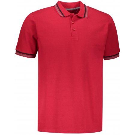 Pánské triko s límečkem ALPINE PRO NOVIL MTSN418 ČERVENÁ