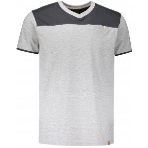 Pánské tričko s krátkým rukávem ALPINE PRO CLEMENT MTSN375 ŠEDÁ
