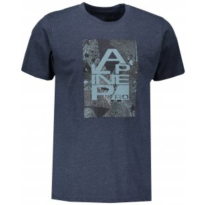 Pánské tričko s krátkým rukávem ALPINE PRO TIBERIO 7 MTSN364 TMAVĚ MODRÁ