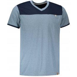 Pánské tričko s krátkým rukávem ALPINE PRO CLEMENT MTSN375 SVĚTLE MODRÁ