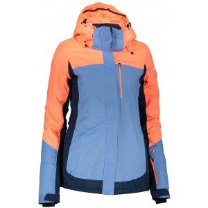 Dámská lyžařská bunda ALPINE PRO SARDARA 3 LJCP352 ORANŽOVÁ/MODRÁ