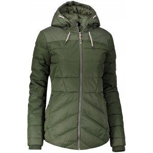 Dámská zimní bunda ALPINE PRO GABRIELLA 3 LJCP345 TMAVĚ ZELENÁ