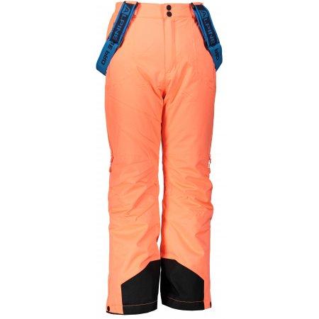 Dětské lyžařské kalhoty ALPINE PRO NUDDO 4 KPAP167 ORANŽOVÁ