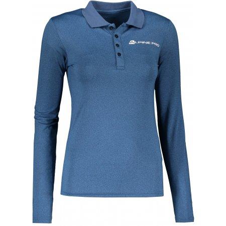 Dámské funkční triko s límečkem ALPINE PRO STERA LTSP635 SVĚTLE MODRÁ