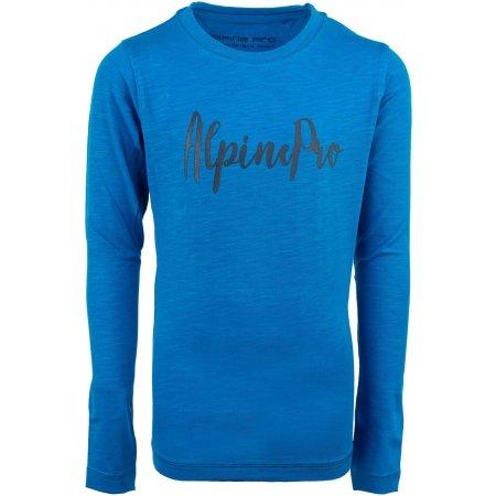 Dětské triko s dlouhým rukávem ALPINE PRO CAMRO KTSP263 MODRÁ