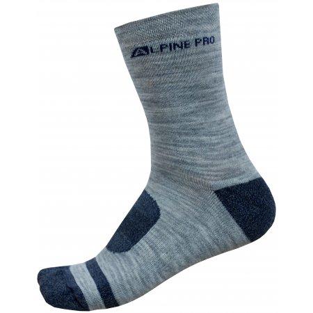 Ponožky ALPINE PRO GENTIN 2 USCP038 TMAVĚ MODRÁ