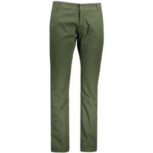 Pánské kalhoty ALPINE PRO HILD MPAP380 TMAVĚ ZELENÁ