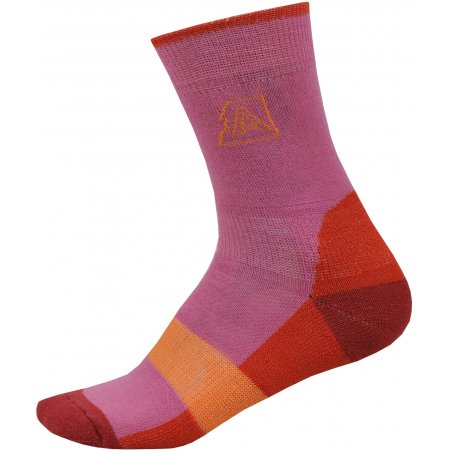 Dětské ponožky ALPINE PRO INDO KSCP016 RŮŽOVÁ/ČERVENÁ
