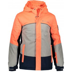 Dětská lyžařská bunda ALPINE PRO SARDARO 2 KJCP154 ORANŽOVÁ/ŠEDÁ