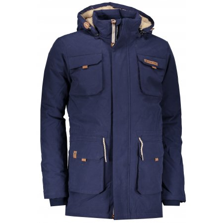 Pánský zimní kabát ALPINE PRO EDIT MCTP002 TMAVĚ MODRÁ
