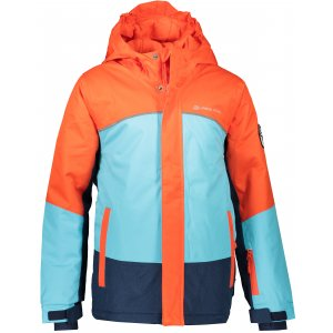 Dětská lyžařská bunda ALPINE PRO SARDARO 2 KJCP154 ORANŽOVÁ/MODRÁ