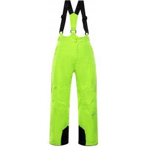 Dětské lyžařské kalhoty ALPINE PRO ANIKO 3 KPAP168 SVĚTLE ZELENÁ