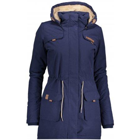 Dámský zimní kabát ALPINE PRO EDITE 5 LCTP103 TMAVĚ MODRÁ