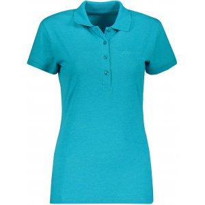 Dámské triko s límečkem ALPINE PRO ZENDAYA LTSP643 SVĚTLE MODRÁ