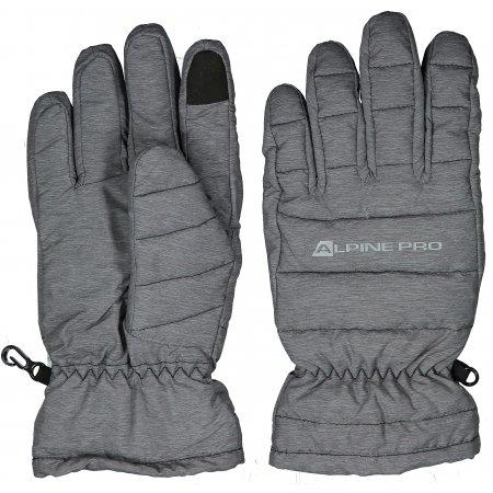 Lyžařské rukavice ALPINE PRO LEZET UGLP007 TMAVĚ ŠEDÁ