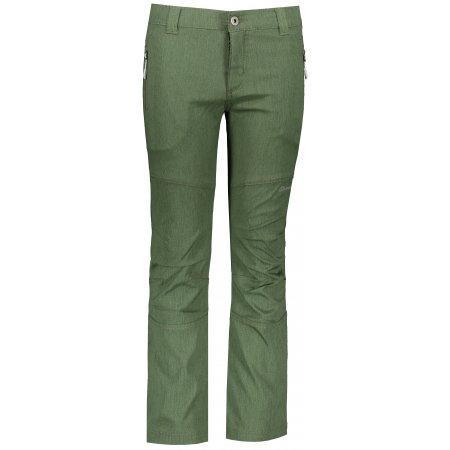 Dětské softshellové kalhoty ALPINE PRO PLATAN 4 KPAP158 TMAVĚ ZELENÁ