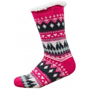Ponožky ALPINE PRO SINNIR 3 USCP056 TMAVĚ RŮŽOVÁ