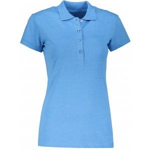 Dámské triko s límečkem ALPINE PRO ZENDAYA LTSP643 MODRÁ