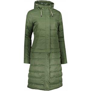 Dámský kabát ALPINE PRO KIRA LCTP120 TMAVĚ ZELENÁ
