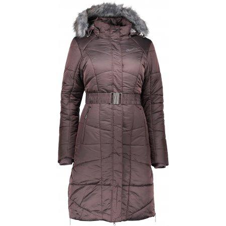 Dámský zimní kabát ALPINE PRO THERESE 4 LCTP099 HNĚDÁ