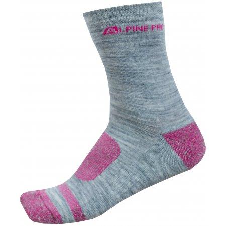 Ponožky ALPINE PRO GENTIN 2 USCP038 RŮŽOVÁ