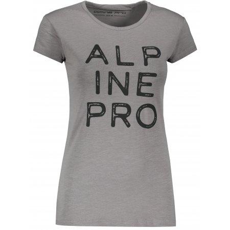 Dámské triko ALPINE PRO JAVONA LTSP647 SVĚTLE ŠEDÁ