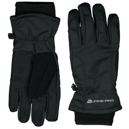 Softshellové rukavice ALPINE PRO KAHUG UGLP006 ČERNÁ