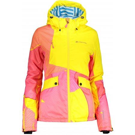 Dámská lyžařská bunda ALPINE PRO MAKERA LJCP356 ŽLUTÁ