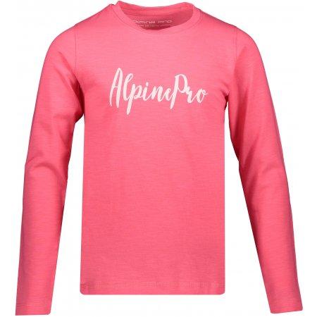Dětské triko s dlouhým rukávem ALPINE PRO CAMRO KTSP263 RŮŽOVÁ
