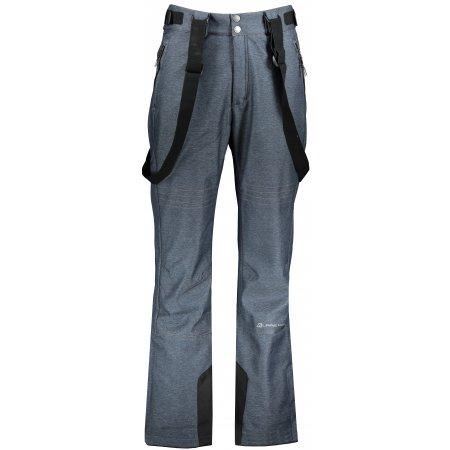 Pánské zimní softshellové kalhoty ALPINE PRO NEX 4 MPAP407 TMAVĚ MODRÁ