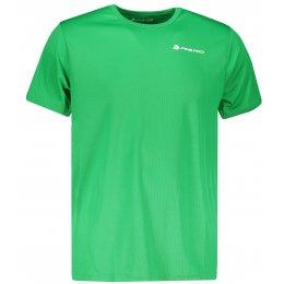 Pánské funkční triko ALPINE PRO OHVICE MTSN496 TMAVĚ ZELENÁ